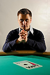 Portrait session with poker professional Yevgeniy Timoshenko