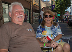 James and Ellen Bell from Georgia during the Hot August Nights Parade in downtown Reno on Sunday, August 13, 2017.