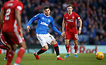 01.02.2020 Rangers v Aberdeen: Ianis Hagi takes on the Aberdeen defence