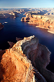 USA, Utah, Lake Powell, aerial view of Padre Bay Northeast of Page