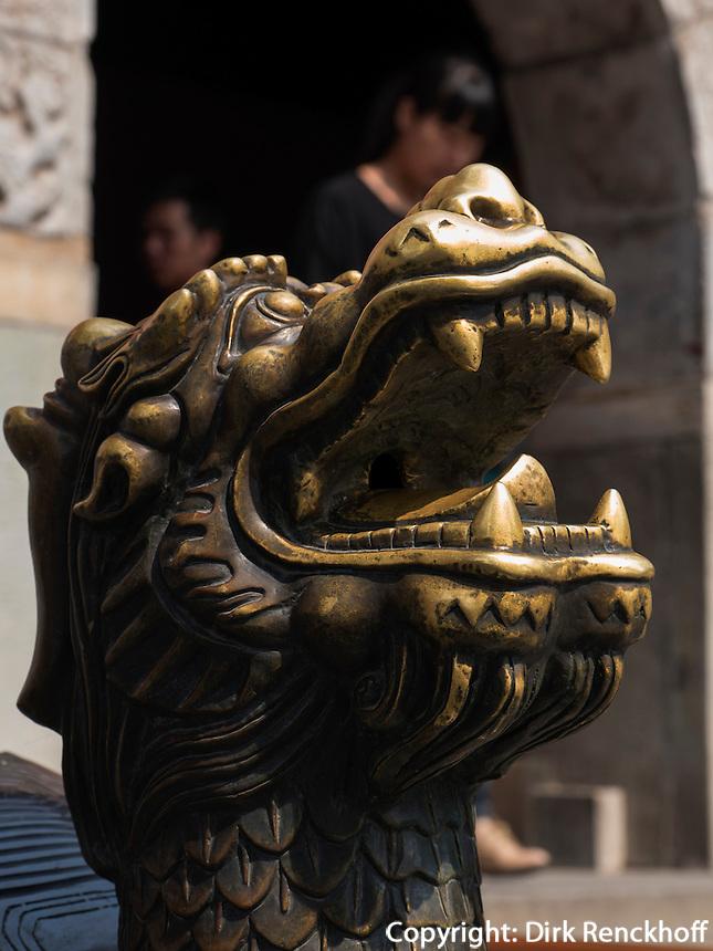 Bronze-Schildkr&ouml;te im BeiHai Park, Peking, China, Asien<br /> Bronze turtle in Beihai Park, Beijing, China, Asia
