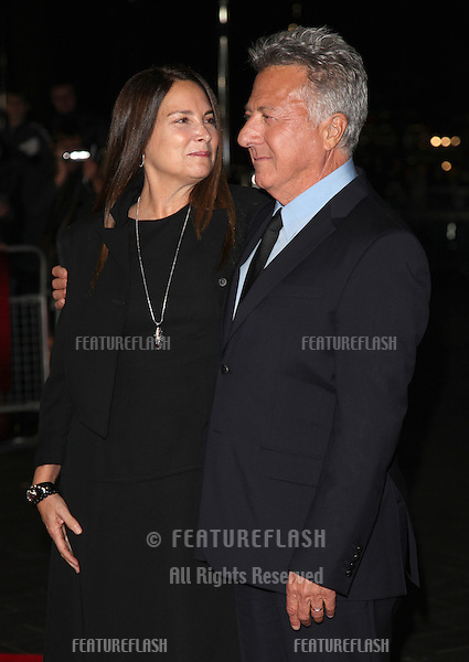 Dustin Hoffman and Lisa Hoffman arriving for the 56th BFI London Film Festival: Quartet - American Airlines gala held at the Odeon Leicester Square, London. 15/10/2012 Picture by: Alexandra Glen / Featureflash