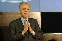 Roma, 29 Dicembre 2011.Conferenza Stampa di fine anno del Primo Ministro Mario Monti..Year-end Press Conference by  italian Prime Minister Mario Monti.Rome,Italy, December 29, 2011