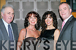 ALL DRESSED UP: Having a wonderful time at the Irish Creamery Milk Suppliers Association social held in Ballyroe Heights Hotel on Friday night were l-r: Patsy O'Connell, Currans, Deirdre Durran, Ballyard, Dolores O'Callaghan, Oakpark, and Brian Durran, Ballyard.   Copyright Kerry's Eye 2008