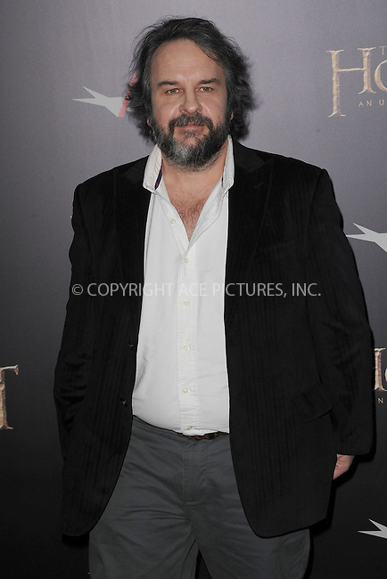 WWW.ACEPIXS.COM . . . . . .December 6, 2012...New York City....Peter Jackson arrives at the US premiere of 'The Hobbit: An Unexpected Journey' at the Ziegfeld Theatre on December 6, 2012 in New York City ....Please byline: KRISTIN CALLAHAN - ACEPIXS.COM.. . . . . . ..Ace Pictures, Inc: ..tel: (212) 243 8787 or (646) 769 0430..e-mail: info@acepixs.com..web: http://www.acepixs.com .