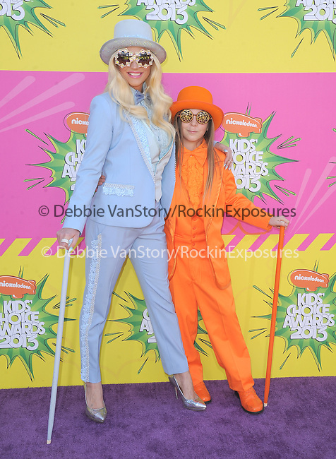 Ke$ha and her little brother at The Nickelodeon's Kids' Choice Awards 2013 held at The Galen Center in Los Angeles, California on March 23,2013                                                                   Copyright 2013 Hollywood Press Agency