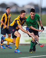 Action during the Auckland Intercity Men's final hockey match between Takapuna and Eden-Roskill, North Harbour Hockey, Auckland, New Zealand. Saturday 19 August 2017. Photo:Simon Watts / www.bwmedia.co.nz