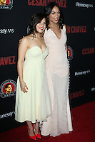 "HOLLYWOOD, LOS ANGELES, CA, USA - MARCH 20: America Ferrera, Rosario Dawson at the Los Angeles Premiere Of Pantelion Films And Participant Media's ""Cesar Chavez"" held at TCL Chinese Theatre on March 20, 2014 in Hollywood, Los Angeles, California, United States. (Photo by Celebrity Monitor)"