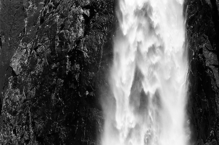 Yosmite Falls Detail NO. 2, Yosemite NP    35mm image on Ilford Delta 100 film