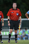 23 September 2016: Assistant Referee Aaron Gallagher. The University of North Carolina Tar Heels hosted the Boston College Eagles in Chapel Hill, North Carolina in a 2016 NCAA Division I Men's Soccer match. UNC won the game 5-0.