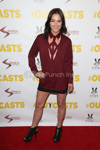 "WESTWOOD, CA - April 13: Christina Elizabeth Smith, At Premiere Of Swen Group's ""The Outcasts"" At The Landmark Regent  In California on April 13, 2017. Credit: FS/MediaPunch"