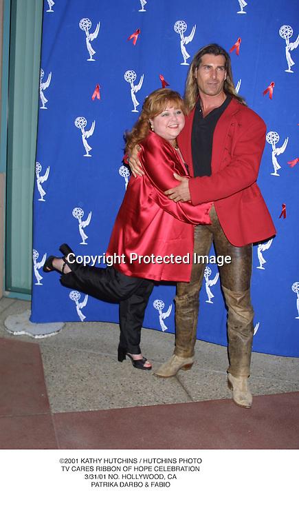 ©2001 KATHY HUTCHINS / HUTCHINS PHOTO.TV CARES RIBBON OF HOPE CELEBRATION.3/31/01 NO. HOLLYWOOD, CA.PATRIKA DARBO & FABIO
