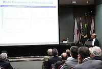 ATENCAO EDITOR: FOTO EMBARGADA PARA VEICULO INTERNACIONAL - SAO PAULO, SP, 10 DEZEMBRO 2012 - PALESTRA HENRIQUE MEIRELLES NA ASSOCIACAO COMERCIAL DE SP-  O ex presidente do Banco Central do Brasil Henrique Meirelles faz uma palestra na reuniao do Conselho Politico e Social da Associacao Comercial de Sao Paulo em sua sede na Se regiao central da cidade nessa segunda, 10. (FOTO: LEVY RIBEIRO / BRAZIL PHOTO PRESS)..