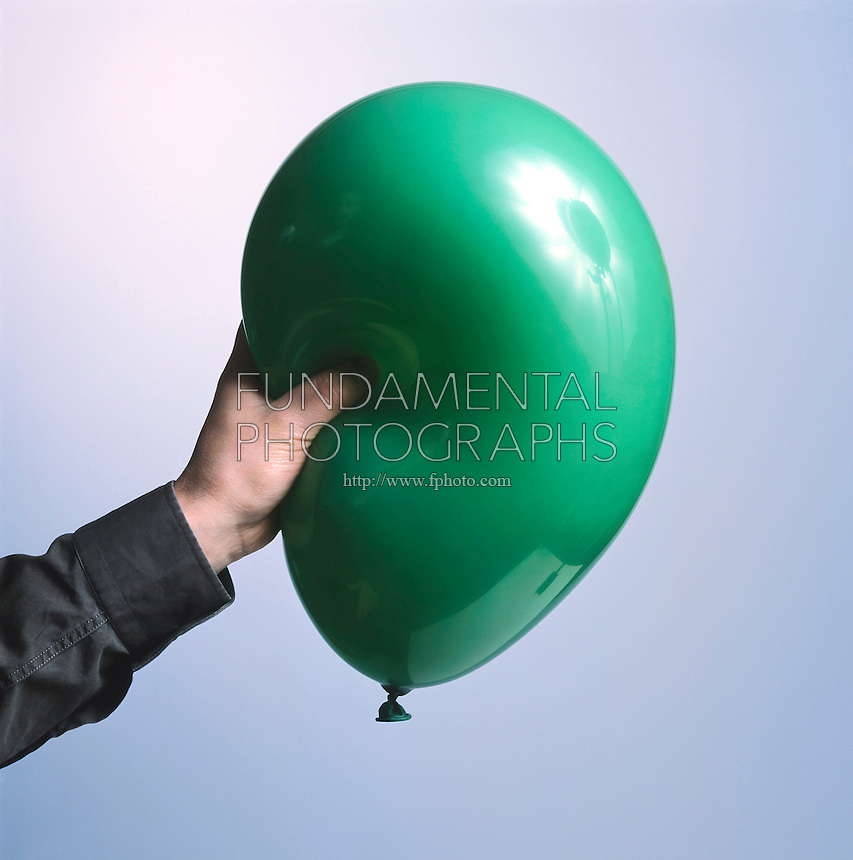 BALLOON: VOLUME &amp; PRESSURE<br /> Squeezing A Balloon Increases Pressure. When the balloon is squeezed, the air inside is displaced and pressure is increased.