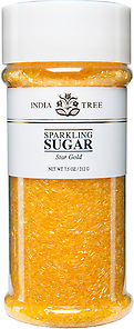 10204 Star Gold Sparkling Sugar, Tall Jar 7.5 oz