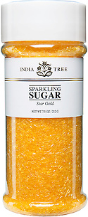 10204 Star Gold Sparkling Sugar, Tall Jar 7.5 oz, India Tree Storefront