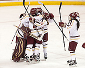 Corinne Boyles (BC - 29), Kaliya Johnson (BC - 6), Kate Leary (BC - 28), Kristyn Capizzano (BC - 7) - The Boston College Eagles defeated the visiting University of Vermont Catamounts 2-0 on Saturday, January 18, 2014, at Kelley Rink in Conte Forum in Chestnut Hill, Massachusetts.