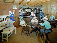 Gay El Rancho Resort. Piano Bar with cowboys & cowgirls