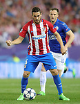 Atletico de Madrid's Koke Resurrecccion (l) and Leicester City FC's Andy King during Champions League 2016/2017 Quarter-finals 1st leg match. April 12,2017. (ALTERPHOTOS/Acero)