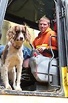 Ellsworth Creek Preserve, forest restoration, Bryce Lindstrom, backhoe operator, Nature Conservancy, Washington Chapter, Emerald Edge Project, Willapa Bay, The dog's name is Abbey