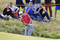 Marc Warren (SCO) chips onto the 14th green during Thursday's Round 1 of the 145th Open Championship held at Royal Troon Golf Club, Troon, Ayreshire, Scotland. 14th July 2016.<br /> Picture: Eoin Clarke | Golffile<br /> <br /> <br /> All photos usage must carry mandatory copyright credit (&copy; Golffile | Eoin Clarke)