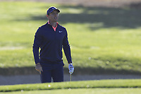 Rory McIlroy (NIR) in a bunker at the 1st green during Thursday's Round 1 of the 2018 AT&amp;T Pebble Beach Pro-Am, held over 3 courses Pebble Beach, Spyglass Hill and Monterey, California, USA. 8th February 2018.<br /> Picture: Eoin Clarke | Golffile<br /> <br /> <br /> All photos usage must carry mandatory copyright credit (&copy; Golffile | Eoin Clarke)