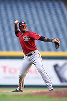 Arizona Diamondbacks Luis Lara (7) during an Instructional League game against the Oakland Athletics on October 15, 2016 at Chase Field in Phoenix, Arizona.  (Mike Janes/Four Seam Images)