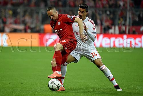 05.04.2016. Munich, Germany. UEFA Champions League FC Bavaria Munich versus Benfica Lisbon.  Franck Ribery (FC Bayern Munich), Andre Almeida (Benfica)