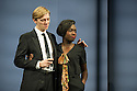 HERE WE GO, by Caryl Churchill, opens in the Lyttelton Theatre at the National Theatre, Southbank. The cast comprises: Madeline Appiah, Susan Engel, Patrick Godfrey, Hazel Holder, Joshua James, Amanda Lawrence, Eleanor Matsuura, Alan Williams. Picture shows: Joshua James, Madeline Appiah.