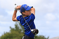 Darragh Cunningham (Tuam) on the 14th tee during the Final round in the Connacht U16 Boys Open 2018 at the Gort Golf Club, Gort, Galway, Ireland on Wednesday 8th August 2018.<br /> Picture: Thos Caffrey / Golffile<br /> <br /> All photo usage must carry mandatory copyright credit (&copy; Golffile | Thos Caffrey)