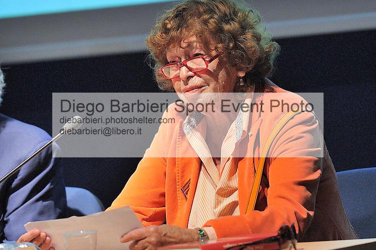 (KIKA) - TORINO - 17/05/2013 A Torino si tiene il 26° Salone del Libro con esposizioni, dibattiti e grandi ospiti, al salone del Lingotto. Inge Feltrinelli