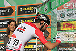 Thomas De Gendt (BEL) Lotto-Soudal at sign on before the start of the 112th edition of Il Lombardia 2018, the final monument of the season running 241km from Bergamo to Como, Lombardy, Italy. 13th October 2018.<br /> Picture: Eoin Clarke | Cyclefile<br /> <br /> <br /> All photos usage must carry mandatory copyright credit (© Cyclefile | Eoin Clarke)