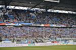 11.03.2018, Schauinsland-Reisen-Arena, Duisburg, GER, 2.FBL, MSV Duisburg vs Fortuna Duesseldorf / D&uuml;sseldorf, im Bild Duisburger Fans mit Schal<br /> <br /> <br /> Foto &copy; nordphoto/Mauelshagen