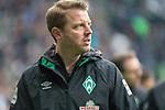 13.04.2019, Weser Stadion, Bremen, GER, 1.FBL, Werder Bremen vs SC Freiburg, <br /> <br /> DFL REGULATIONS PROHIBIT ANY USE OF PHOTOGRAPHS AS IMAGE SEQUENCES AND/OR QUASI-VIDEO.<br /> <br />  im Bild<br /> <br /> Florian Kohfeldt (Trainer SV Werder Bremen)<br /> Gestik, Mimik,<br /> <br /> Foto © nordphoto / Kokenge
