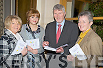 "Pictured at the launch of ""Stairway to Learning"" in The Brehon Hotel, Killarney, on Tuesday night were Jane Quilligan, Triona Foy, Barney O'Reilly, CEO Kerry Education Service and Mary Concannon, Killarney Adult Literacy and Basic Education centre."