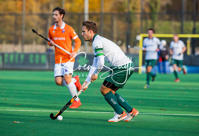 BLOEMENDAAL - Jeroen Hertzberger (Rdam)  tijdens  hoofdklasse competitiewedstrijd  heren , Bloemendaal-Rotterdam (1-1) .COPYRIGHT KOEN SUYK