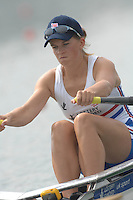 Beijing, CHINA, GBR JW1X, Sarah COWBURN, during the  2007. FISA Junior World Rowing Championships Shunyi Water Sports Complex. Wed. 08.08.2007  [Photo, Peter Spurrier/Intersport-images]..... , Rowing Course, Shun Yi Water Complex, Beijing, CHINA,