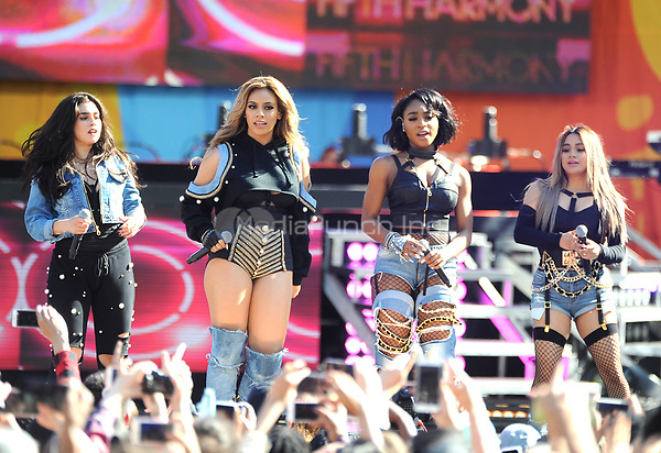 NEW YORK, NY - June 2: Normani Kordel, Dinah Jane, Ally Brooke and Lauren Jauregui of Fifth Harmony  perform at the Rumsey Playfield in Central Park for the 2017 Good Morning America Concert Series on May 26, 2017 in New York City. Photo by : John Palmer/MediaPunch