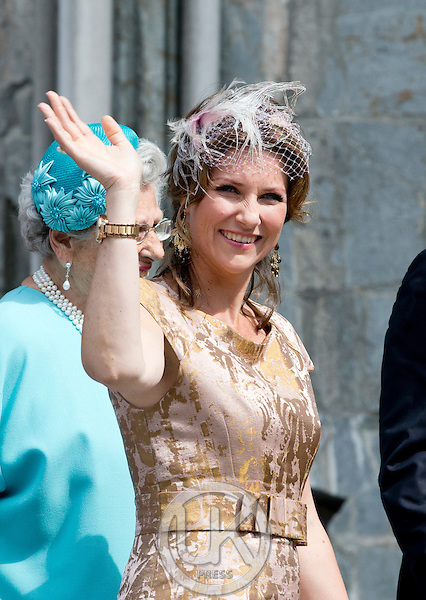 TRONDHEIM, NORWAY - JUNE 23:  Princess Martha Louise of Norway attends a service at Nidaros Cathedral on a visit to Trondheim, during the King and Queen of Norway's Silver Jubilee Tour, on June 23, 2016 in Trondheim, Norway.