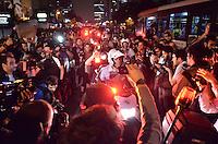 SAO PAULO, SP, 07 de junho 2013- Consentracao de manifestante contra o aumento da Tarifa na Av Reboucas Pinheiros FOTO:ADRIANO LIMA / BRAZIL PHOTO PRESS).