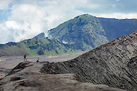 Java, East Java, Mount Bromo. Gunung Bromo. At the crater edge.