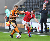 Hull City's Richard Smallwood battles with Crew Alexandra's Oliver Finney<br /> <br /> Photographer Dave Howarth/CameraSport<br /> <br /> The EFL Sky Bet League One - Hull City v Crewe Alexandra - Saturday 19th September 2020 - KCOM Stadium - Kingston upon Hull<br /> <br /> World Copyright © 2020 CameraSport. All rights reserved. 43 Linden Ave. Countesthorpe. Leicester. England. LE8 5PG - Tel: +44 (0) 116 277 4147 - admin@camerasport.com - www.camerasport.com