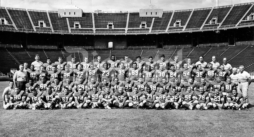 Ohio State University Big Ten football champions 1955. (Dispatch photo by George A. Smallsreed, Jr.)