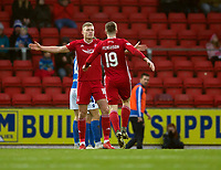 24th November 2019; McDairmid Park, Perth, Perth and Kinross, Scotland; Scottish Premiership Football, St Johnstone versus Aberdeen; Sam Cosgrove of Aberdeen celebrates after scoring for 1-0 in the 21st minute - Editorial Use