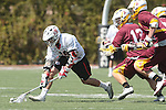Orange, CA 05/02/10 - Brian Bell (Chapman # 19) and Eric Nelson (ASU # 13) in action during the Chapman-Arizona State MCLA SLC Division I final at Wilson Field on Chapman University's campus.  Arizona State defeated Chapman 13-12 in overtime.