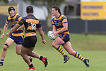 James Brady make a run across field as he looks for attacking options. Premier Counties Power Club Rugby Round 3, Counties Power Game of the Week, between Patumahoe and Bombay, played at Patumahoe on Saturday March 24th 2018. <br /> Photo by Richard Spranger.<br /> <br /> Patumahoe Counties Power Cup Holders won the game 26 - 23 after trailing 7 - 23 at halftime.<br /> Patumahoe 26 - Penalty try, Richard Taupaki, Theodore Solipo, Craig Jones tries; Riley Hohepa 2 conversions. <br /> Bombay 23 - Shaun Muir, Jordan Goldsmith, Liam Daniela, tries; Tim Cossens conversion; Tim Cossens 2 penalties.