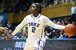 23 November 2012: Duke's Alexis Jones. The Duke University Blue Devils played the Valparaiso University Crusaders at Cameron Indoor Stadium in Durham, North Carolina in an NCAA Division I Women's Basketball game. Duke won the game 90-45.
