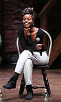 "Denee Benton during the ""Hamilton"" eduHAM Student Matinee Q & A  at the Richard Rodgers Theatre on February 13, 2019 in New York City."