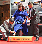 Melissa McCarthy Honored with Hand and Footprint Ceremony at TCL Chinese Theatre Los Angeles Ca. July 2, 2014.