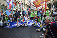 Roma, 28 Ottobre 2013<br /> Manifestazione fino al Ministero dello Sviluppo Economico dei lavoratori Alcoa a rischio licenziamento.